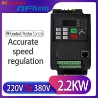 4kw 220v single phase input 380v 3 phase output ac frequency inverter converter ac drives frequency converter
