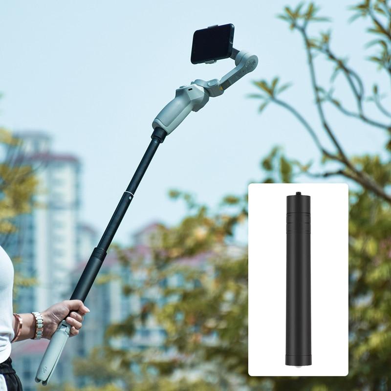 Telescopic Extension Rod Pole Selfie Stick for DJI OSMO Mobile 2 3 OM 4 FeiYu Zhiyun Smooth Moza Min