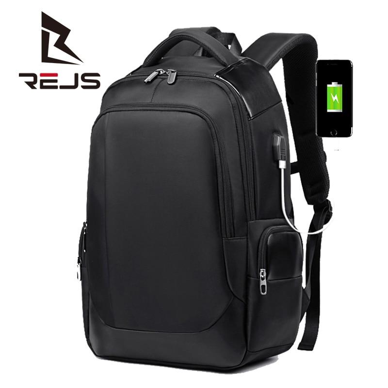 REJS LANGT حقيبة ظهر للعمل الرجال 15.6 بوصة محمول على ظهره مع شحن سعة كبيرة حقيبة عملية للسفر Mochila مكافحة سرقة كيس