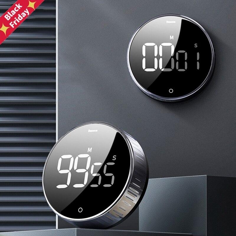 СВЕТОДИОДНЫЙ цифровой кухонный таймер для приготовления пищи и душа, учебный секундомер, будильник, магнитные электронные часы для пригото...