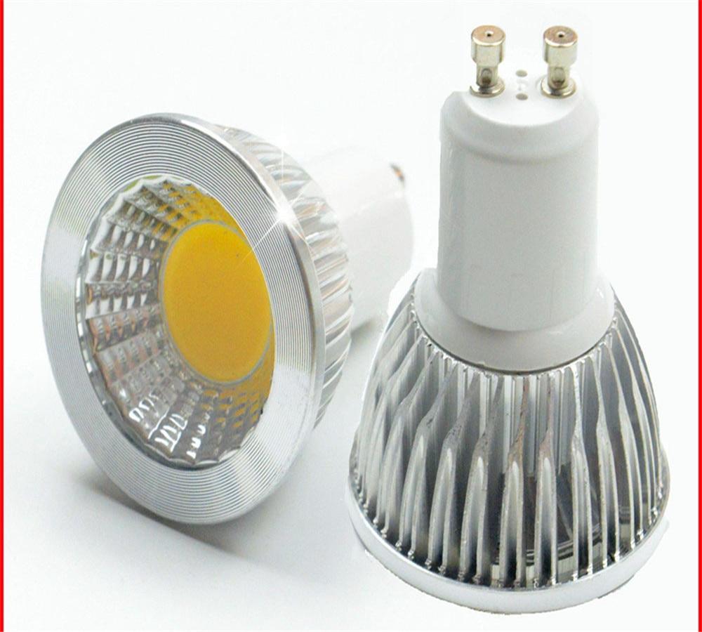10 قطعة LED الأضواء لمبة GU10Light عكس الضوء Led 110 فولت 220 فولت التيار المتناوب 6 واط 9 واط 12 واط LED GU5.3 GU10 COB LED ضوء المصباح GU 10 led GU5.3