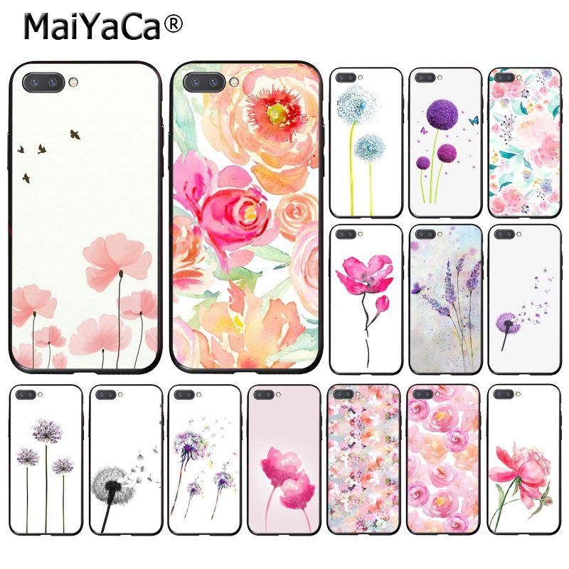 MaiYaCa acuarela flor diente de león loto lavanda púrpura PhoneCase para Huawei Honor 8X 9 10 20 Lite 7A 5A 7C 10i 8C 7A 9XPro