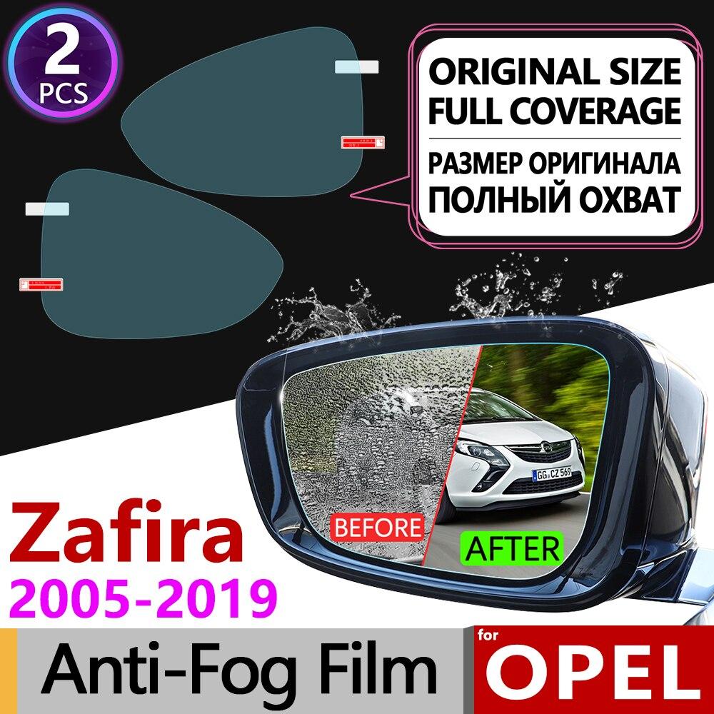 Para Opel Zafira B C 2005 ~ 2019 Acessórios de Cobertura Completa Filme Anti Nevoeiro Espelho Retrovisor para Chevrolet Opel Tourer 2009 2014 2017