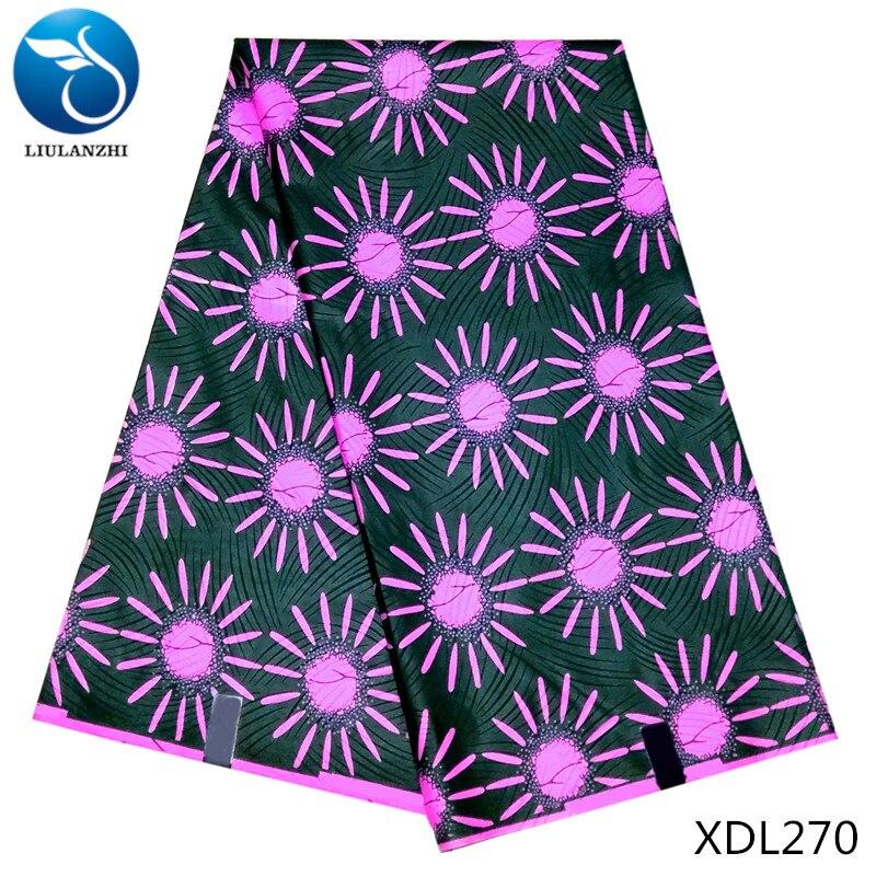 LIULANZHI cire tissus africain cire polyester tissu pour les femmes robe en gros imprimé ankara cire tissu 5yards XDL270-XDL291