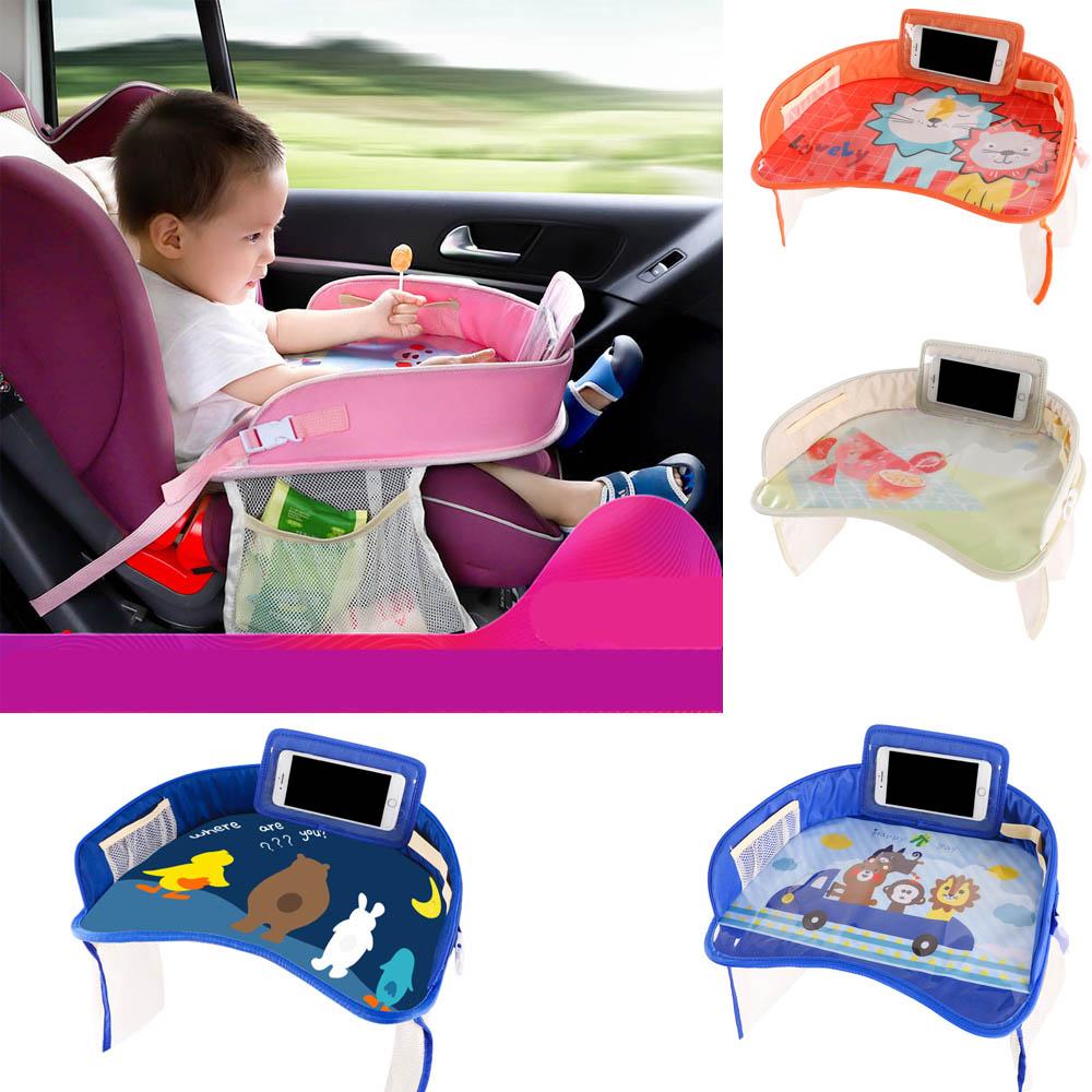 صينية مقعد سيارة للأطفال ، عربة أطفال ، حامل مياه ، لعبة طعام ، طاولة سيارة محمولة للأطفال