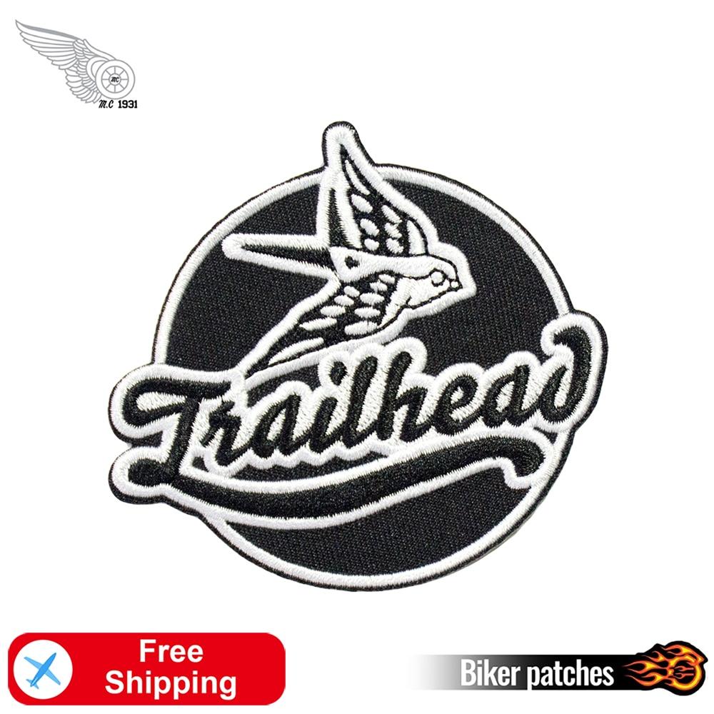Parches de bordado de cabeza de pájaro, accesorios para motociclistas, placas para planchar para ropa personalizadas DIY