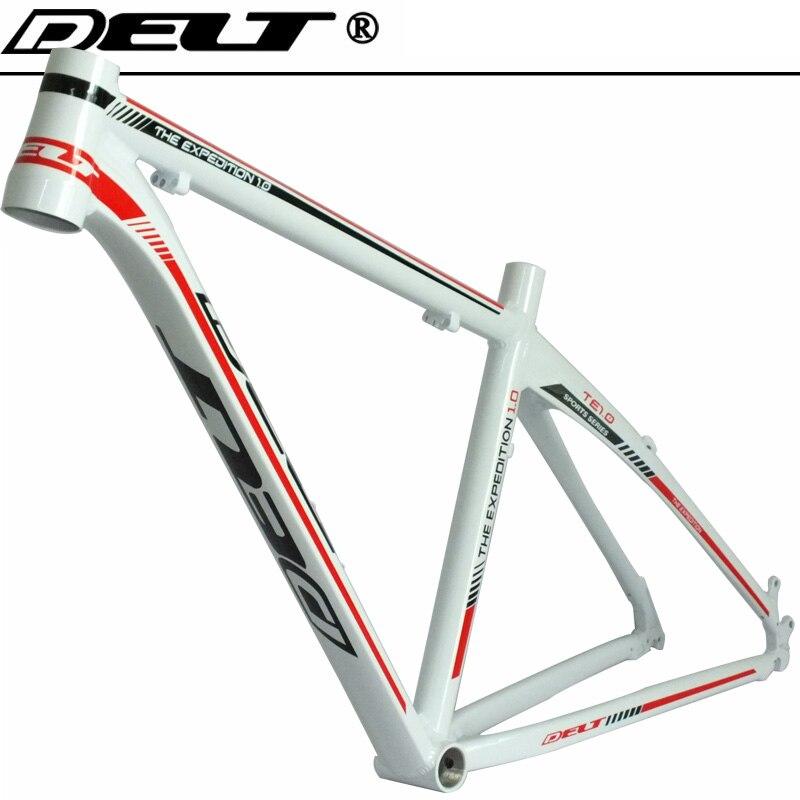 Cuadro de bicicleta de montaña AL6069, de 26x17 pulgadas, auriculares para bicicleta de montaña 44x55mm, blanco brillante, rojo, accesorios
