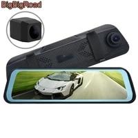 bigbigroad car dvr dash camera cam stream rearview mirror ips screen for bmw mini jcw cabrio clubman countryman paceman roadster