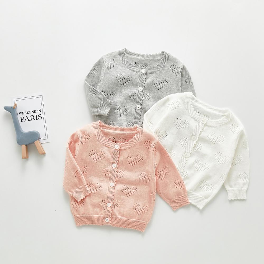 Angoubebe B93T18 Chaqueta de punto niñas de manga larga con botones de cierre Bolero Rosa ojal aire acondicionado cárdigan suéter