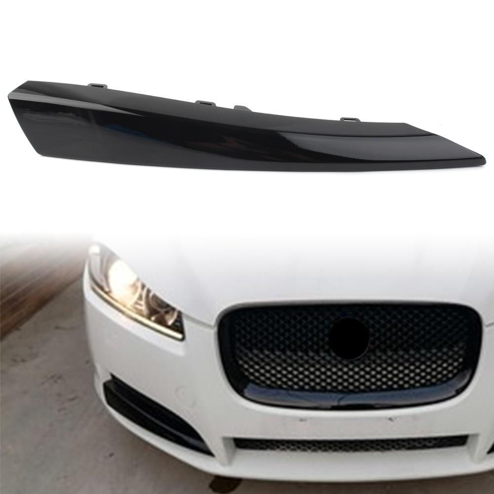 Решетка переднего бампера автомобиля, вставка, боковая крышка, накладка справа для Jaguar XF 2012 2013 2014 2015, черный АБС-пластик
