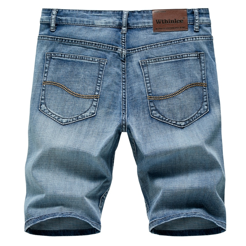 2020 Summer New Men's Denim Shorts Classic Black Blue Thin Section Fashion Slim Business Casual Jeans Shorts Male Brand