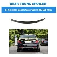 rear spoiler for mercedes benz s class w222 2014 2019 carbon fiber trunk boot lip