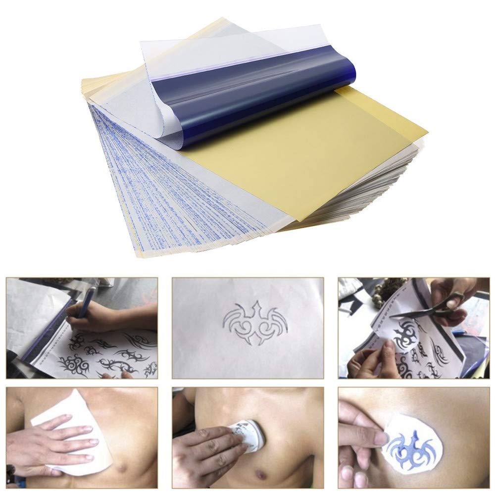 100/50/30/10pcs Tattoo Transfer Papers A4 Size Tattoo Thermal Copier Stencil Papers for Tattoo Transfer Machine Printer