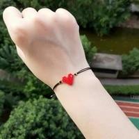 fairywoo sweet heart bracelet women fashion jewelry miyuki bead charm bracelets handmade bohemia rope drawstring dangle bracelet