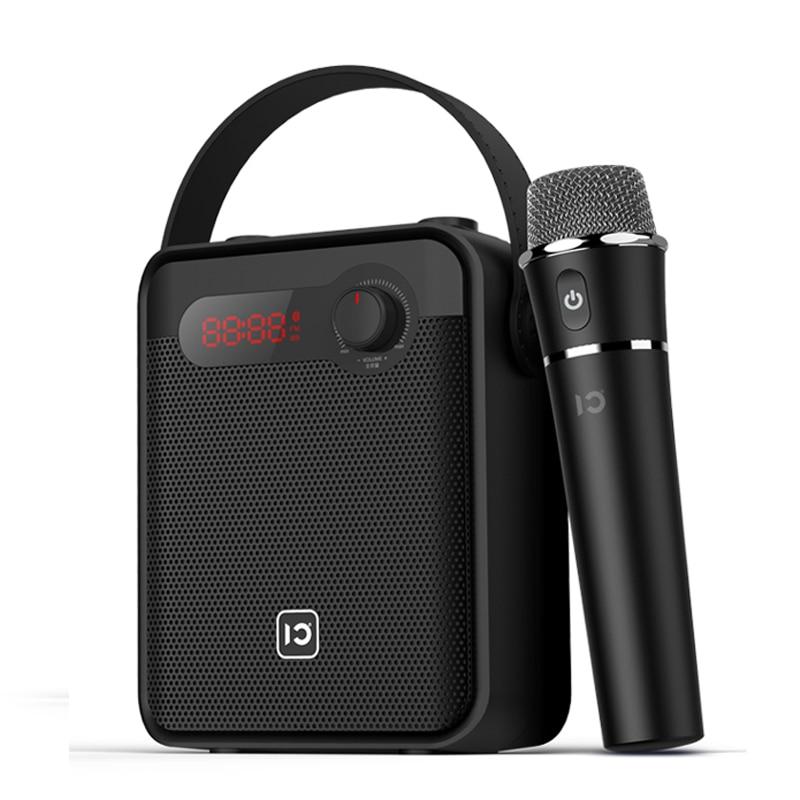 SHIDU-مكبر صوت محمول ، مكبر صوت 25 واط ، ميكروفون لاسلكي ، صوت ، بلوتوث ، كاريوكي ، مكبر صوت AUX ، تسجيل TWS ، راديو FM H8