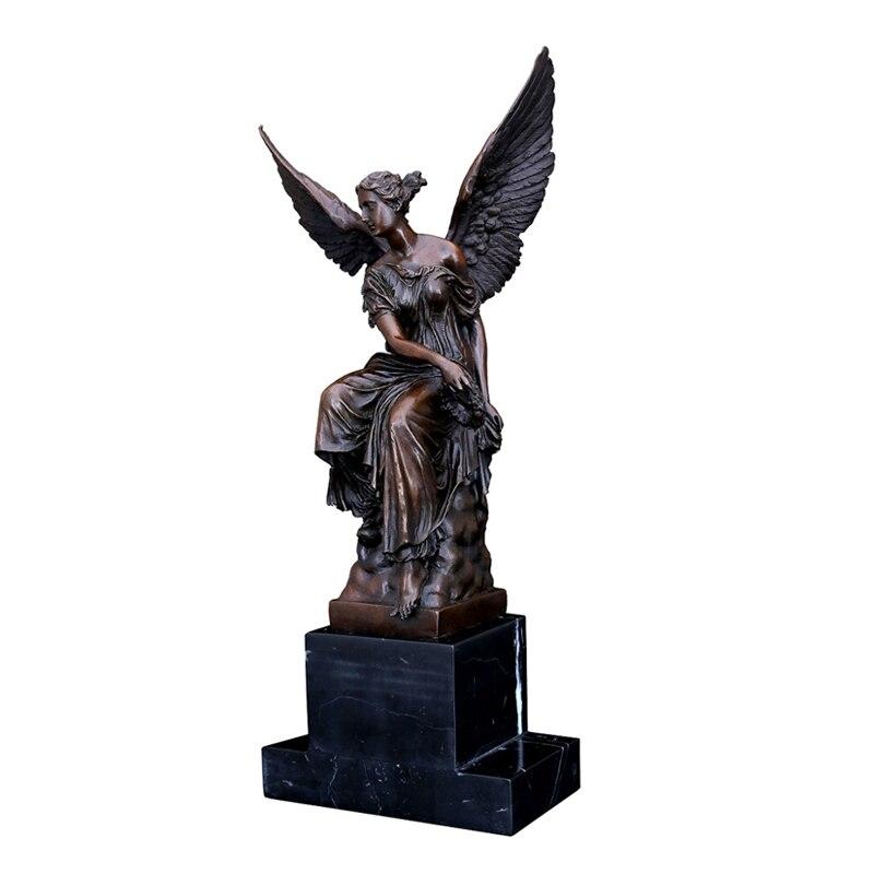 Escultura de Athena alada de bronce escultura de diosa sabiduría mito griego figura estatua para decoración de Hotel regalos