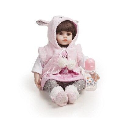 Bebê reborn boneca 45 centímetros Baby girl dolls completa silicone Boneca Reborn Brinquedos Bonecas presentes do dia das Crianças pode levar banho