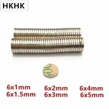 10/100 Disc magnet 6x1 6x 1,5 6x2 6x3 6x4mm Gürtel mit 3M selbst-adhesive NdFeB magnet Dia 6mm neodym magnet Magnetische standard