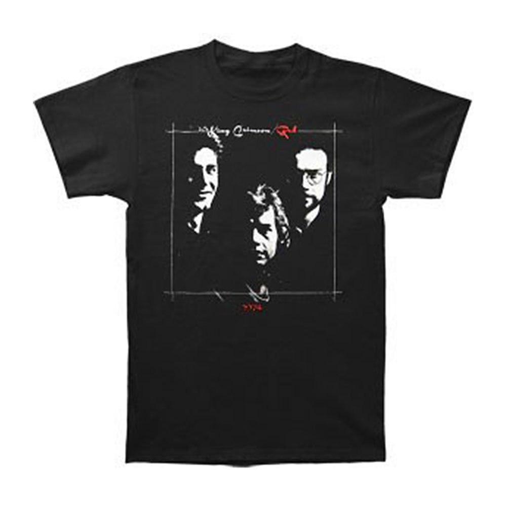 King Crimson hombres rojo camiseta negro Hipster camiseta Homme