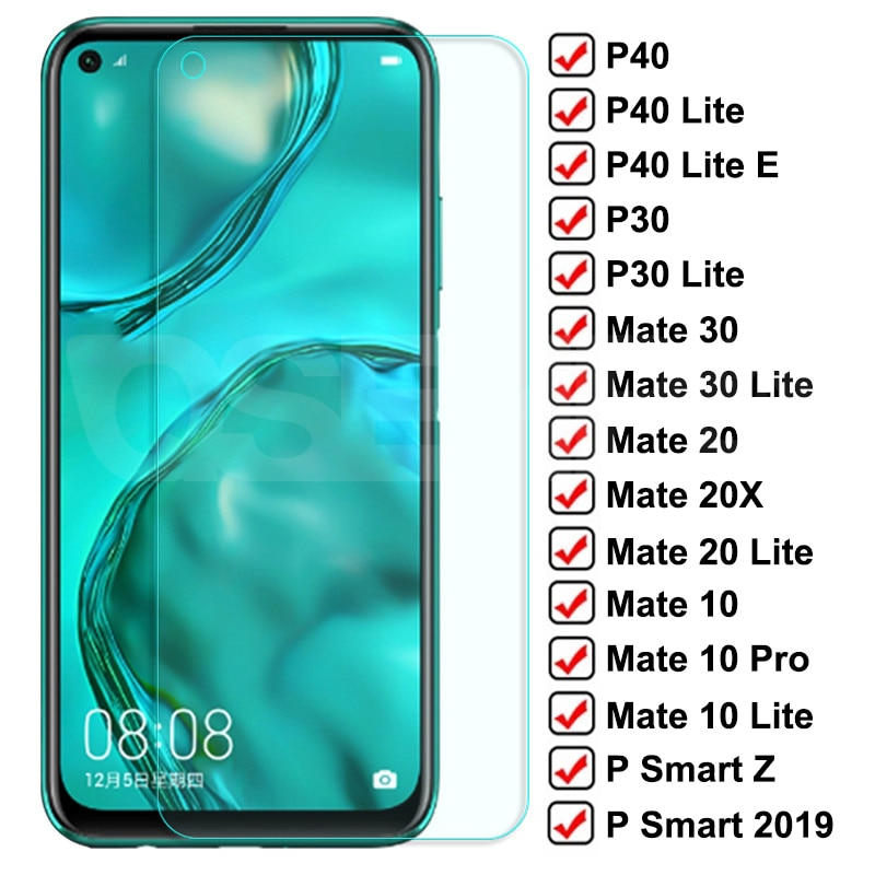 9D Tempered Glass For Huawei P30 P40 Lite P Smart 2019 Screen Protector Protective Glass Huawei Mate