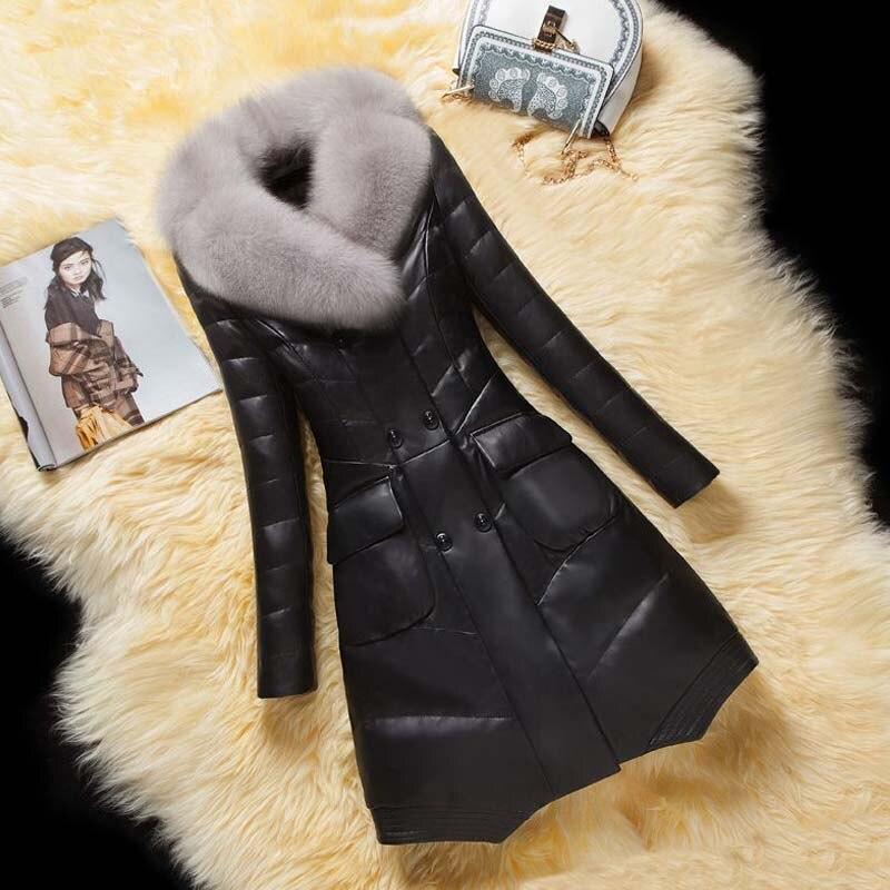 Куртка женская зимняя из искусственной кожи с капюшоном, на искусственном меху