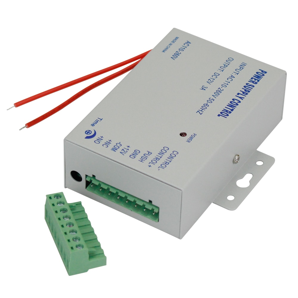 DC12V 3A New Access Control System Power Supply Switch AC AC110V-260V Input Time Delay for Door Lock