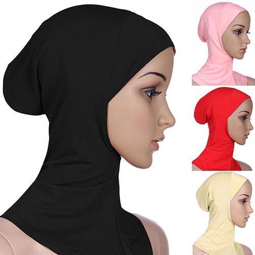Suave gorro musulmán de cobertura completa, hiyab islámico, Underscarf, cabeza de cuello, sombrero, chal, pañuelo de Islam, diadema interior, capó, nuevo