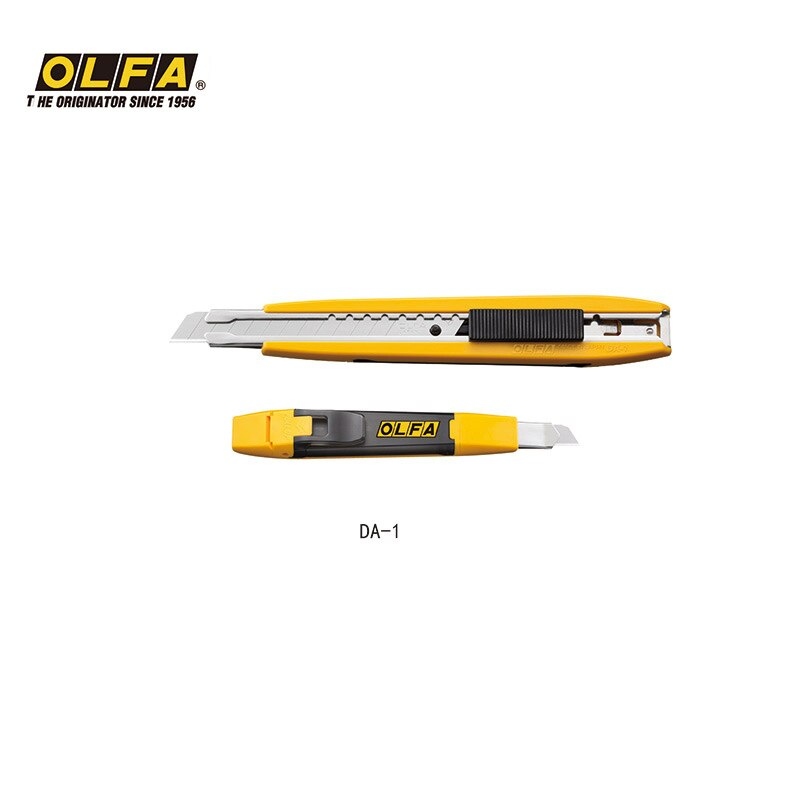 OLFA Japón importado cuchillo de Autobloqueo con caja de almacenamiento rota de 9mm, cuchillo de 18mm DA-1, DL-1