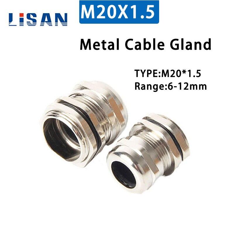 1 Uds M20 * 1,5 para prensaestopas de Metal de 6-12mm Junta impermeable de plástico IP68 20mm Junta fija jiont de alta calidad