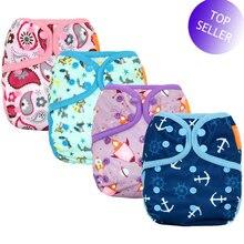 Nouvelles impressions Happy Flute nouveau OS bébé couche-culotte en tissu, imperméable à leau respirant S M & L réglable, ajustement bébé 5-15kg