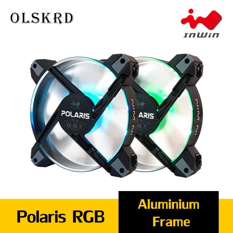 Olskrd inwin polaris rgb alumínio cooler radiador caso pc ventilador 120mm ventilador 8pin 12v aura sincronização silencioso intel cooler ventilador de refrigeração