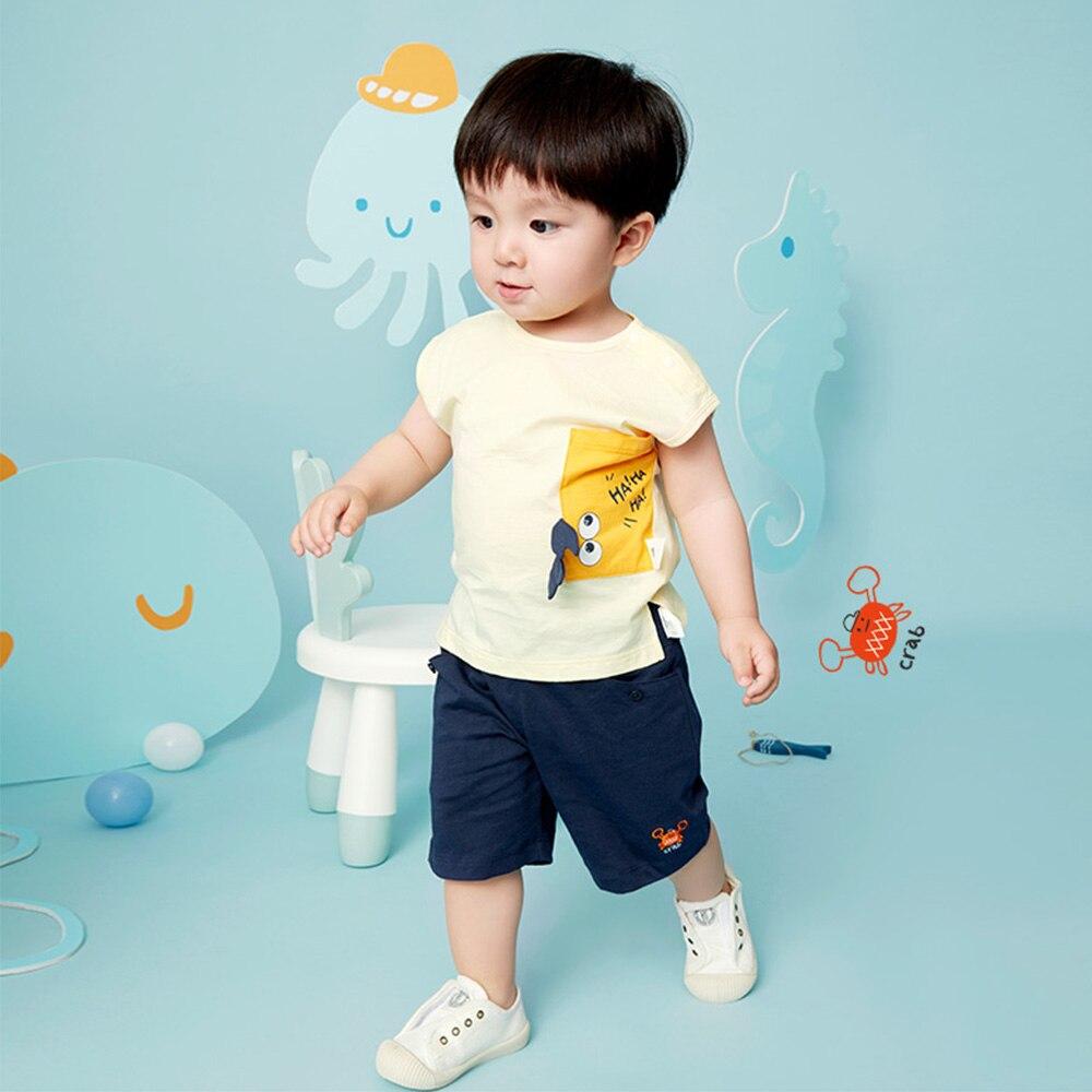Tops de bebé niños niñas de verano camisas sin mangas tirantes de dibujos animados camisetas para niños pequeños camiseta tamaño 73-110cm