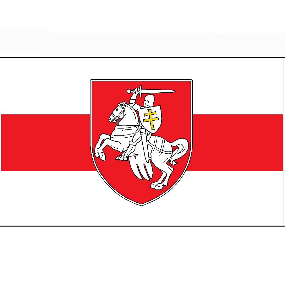 Johnin 90x150cm belarus branco cavaleiro pagonya bandeira