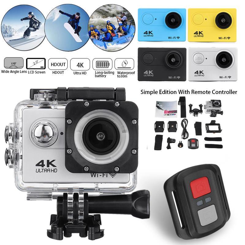 4K عمل الكاميرا مع الترا HD 1080p شاشة تحت الماء 30 متر مقاوم للماء كاميرا رياضية الذهاب المتطرفة برو كامير فيديو كاميرا الفيديو