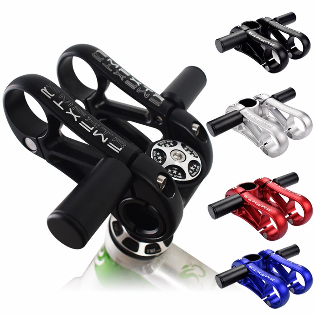 FMFXTR велосипедный двойной стояк для велосипеда, велосипедный руль, Регулируемый складной руль для велосипеда, ствол 31,8 мм, черный, красный, синий, серебристый