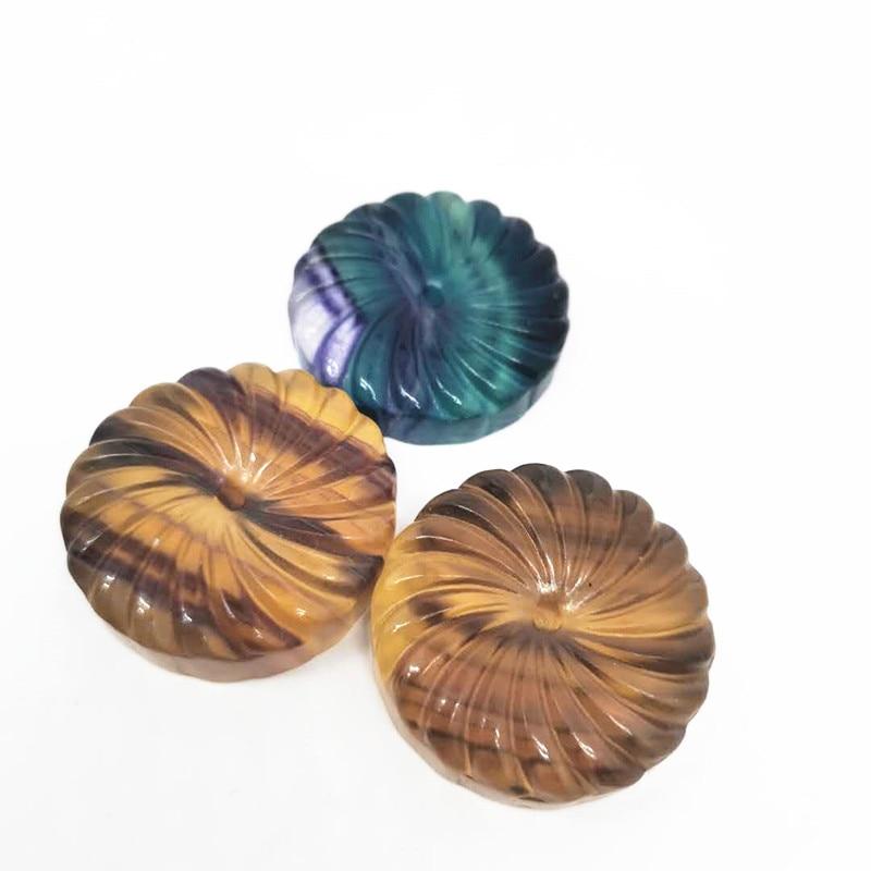Collar de flores de fluorita coloridas naturales amuletos regalo de joyería para mujer