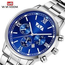 Luxury Men's watch Stainless Steel Top Brand Fashion Casual Dress Quartz Wristwatch Relogio Masculin