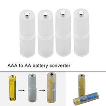 4pcs AAA a AA Dimensioni del Convertitore Della Batteria Adapter Batterie Caso Del Supporto Durevole Switcher In Magazzino