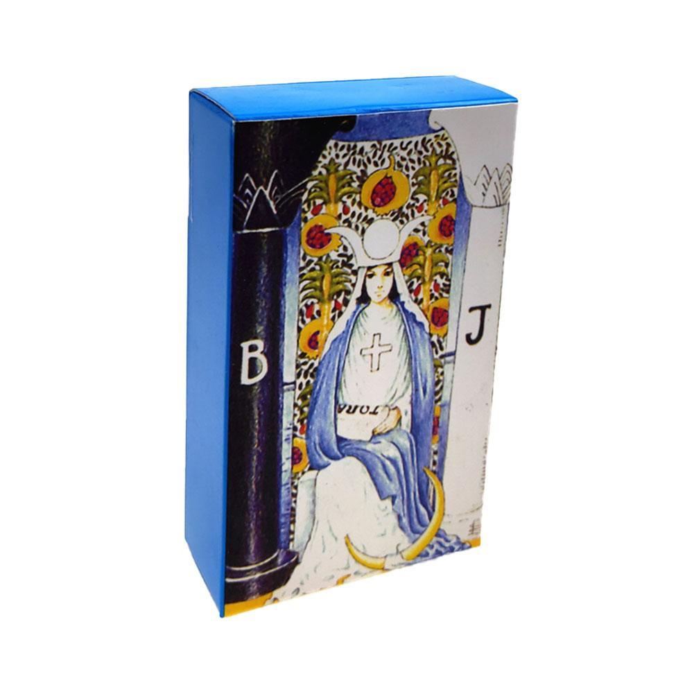 Cartas juego de mesa de Tarot ruso con caja colorida divinación cartas de Tarot juego escritorio entretenimiento para regalo de fiesta