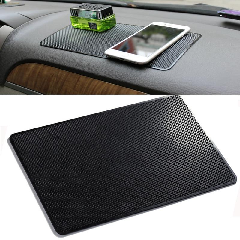 27x15cm Car Dashboard Sticky Anti-Slip PVC Mat Auto Non-Slip Sticky Gel Pad for Phone Sunglasses Hol