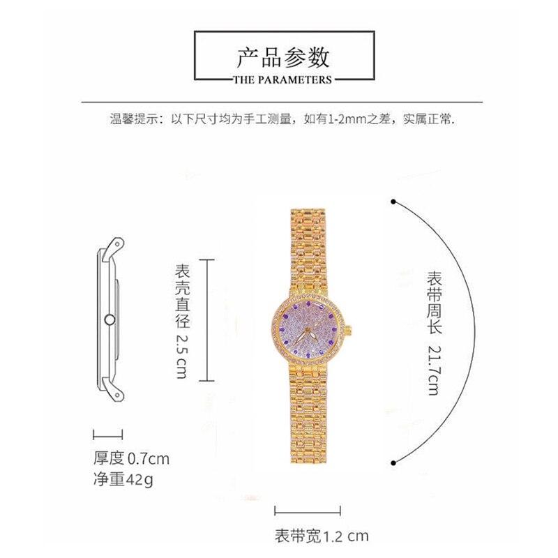 Women Watches Famous Top Luxury Brand Stylish Creative Diamond Small Gold Quartz Ladies Wrist Watch Female bayan kol saati 2020 enlarge