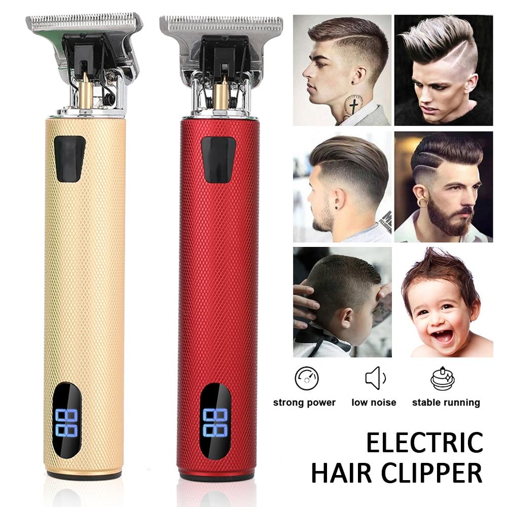 2021 LCD Professional Hair Clipper Hair Trimmer for Men Electric Shaver for Men Beard Trimmer Razor