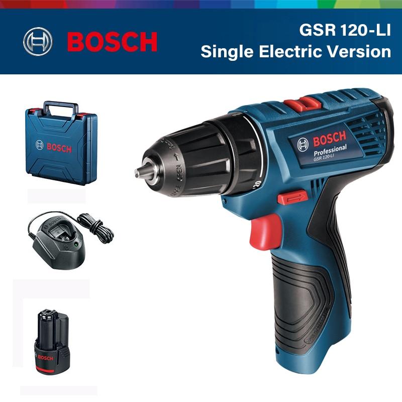 مثقاب كهربائي لاسلكي من Bosch طراز GSR بقوة 120-LI مفك كهربائي 12 فولت مثقاب كهربائي منزلي أداة كهربائية احترافية من Bosch