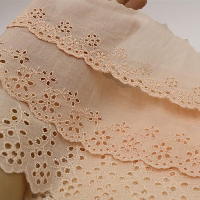 1M últimas telas de guipur, recortes de costura de encaje para ropa, apliques de tela de encaje, 17cm, cinta de encaje bordado, embellecedores VG8