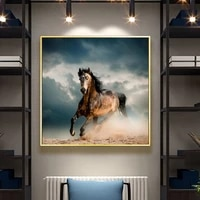 modern animal posters and prints wall art canvas painting running horse picture for living room home decoration cuadros no frame