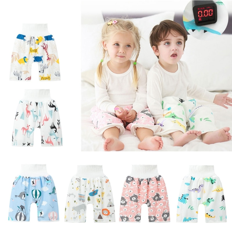 Baby Diaper Training Skirt Cotton High Waist Waterproof Diaper Skirt Children Baby Cloth Diaper Urination Skirt baby cloth diaper sprayer system with copper inside attached in the toilet high speed water easy to wash soiled cloth diaper