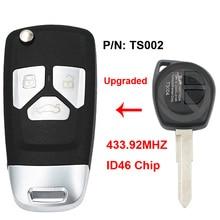 Folding Flip Upgraded Remote Key ASK 433.92MHz ID46 Chip P/N TS002 for Suzuki Swift SX4 from 2008 Euro Vauxhall Agila b 2008