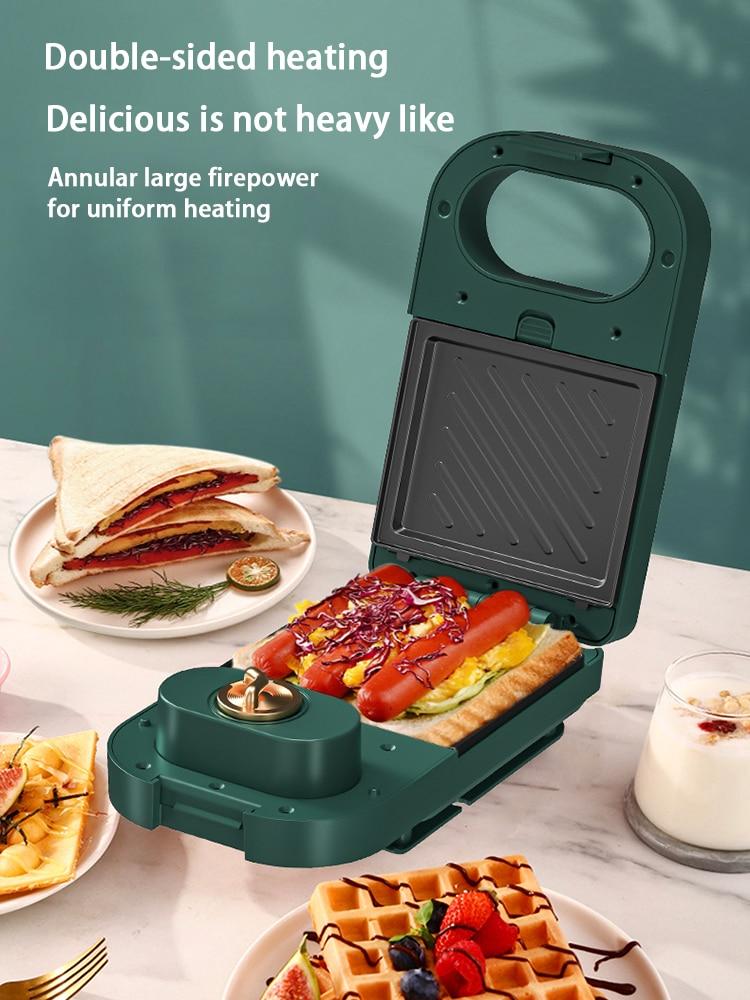 Home متعددة الوظائف صانع الساندوتشات آلة الغذاء الخفيفة الذكية توقيت الهراء الصغير غير عصا خبز الإفطار صانع محمصة 220 فولت