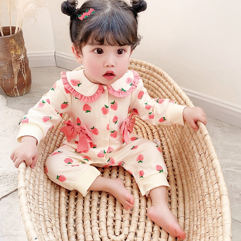 Yg brand children's wear spring and autumn new long sleeve girls' ha Yi full moon clothes one BABY B