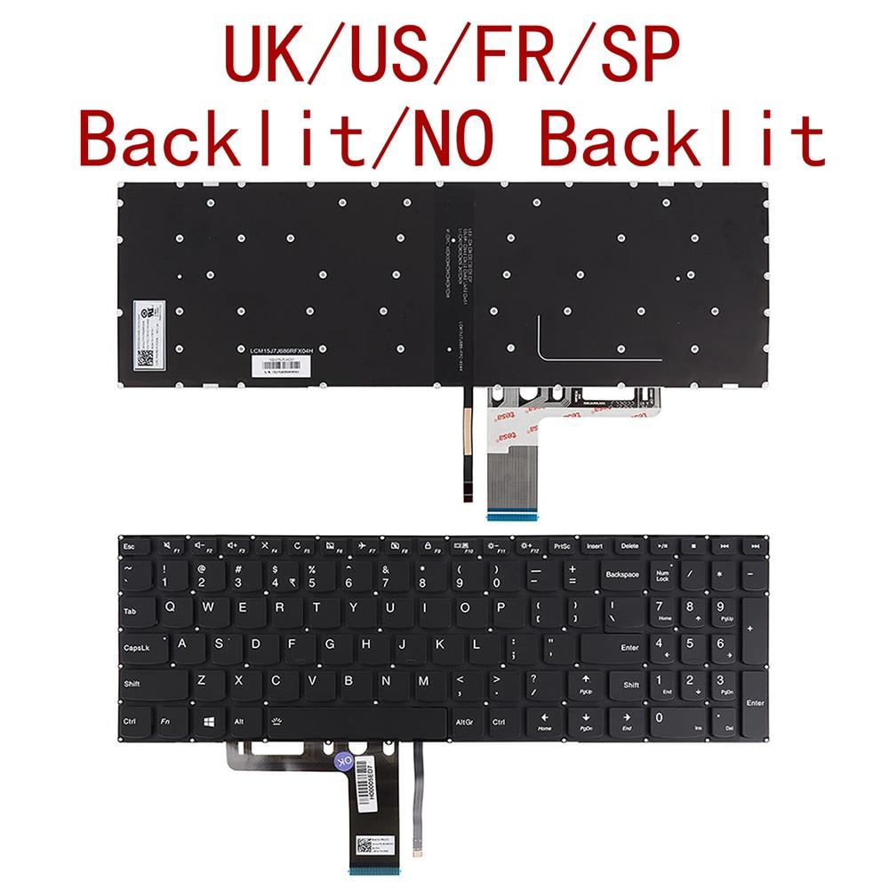 US / UK / French / Spanish New Keyboard For Lenovo Ideapad V310-15IKB V310-15ISK 510-15ISK 510-15IKB Laptop Black with Backlit